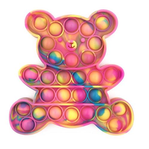 Tie-Dye Teddy Bear Pop Fidget