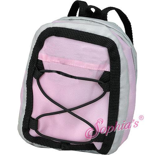 Light Pink & Gray Sporty Nylon Backpack