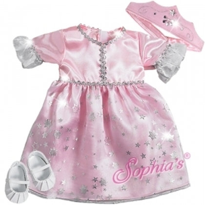 Baby Doll Pink Princess Doll Costume and Crown