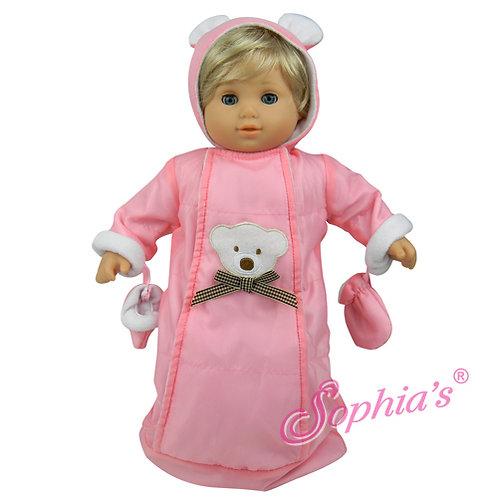 Baby Doll Pink Polar Bear Snowsuit