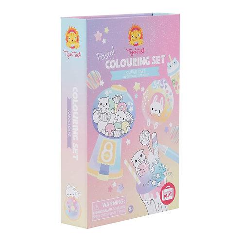Kawaii Cafe- Pastel Coloring Set