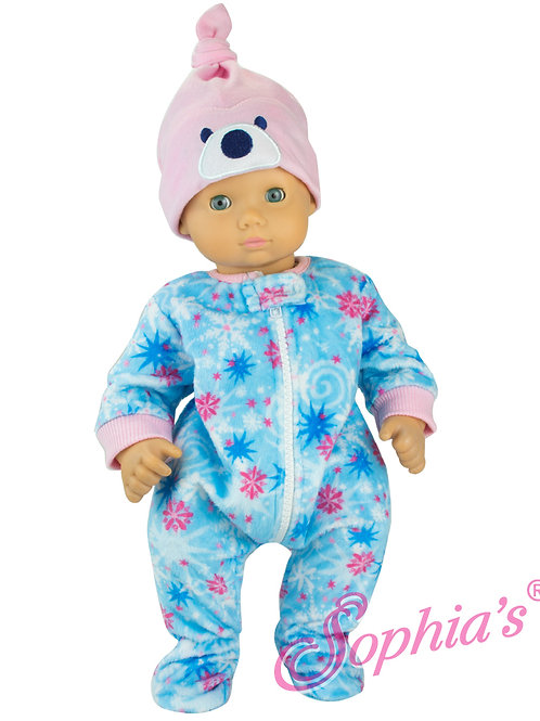 Baby Doll Polar Bear Sleeper and Hat Set