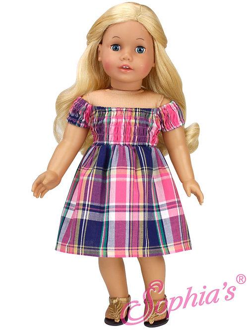 Plaid Smocked Summer Dress
