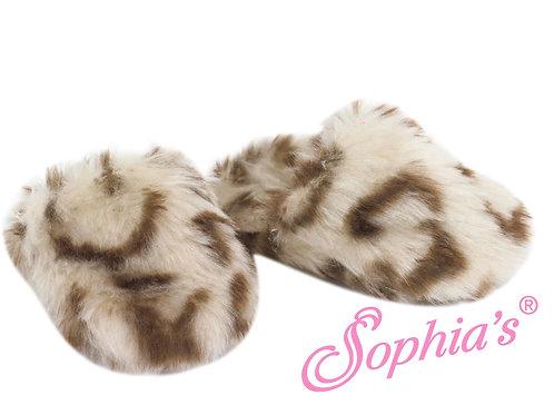 Animal Fur Print Slip-On Slippers