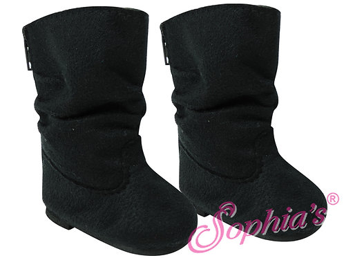 Black Suede Slouchy Boots