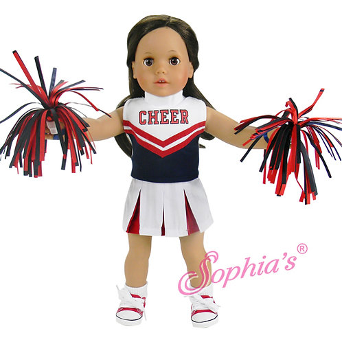 Red and Navy Cheerleader Outfit