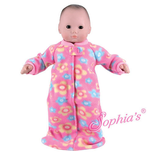 Fleece Print Baby Doll Sleeper Sack