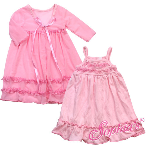 Light Pink Peignoir & Nightgown Set