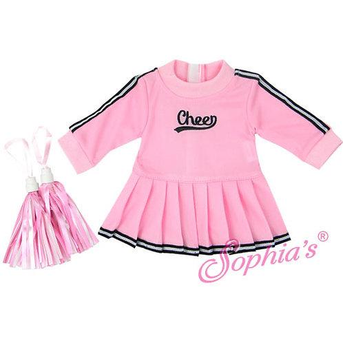 Baby Doll Pink Cheerleader Jumper w/ Pom-Poms