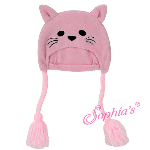 Pink Fleece Kitty Hat