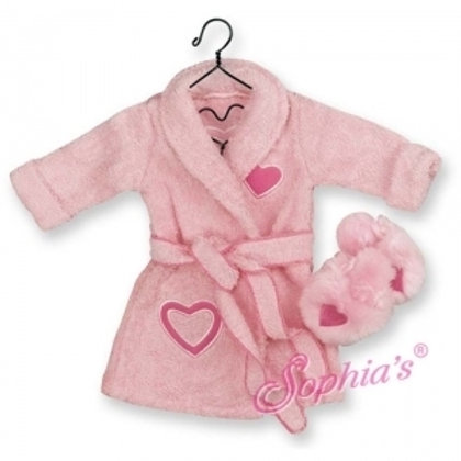 Pink Terry Robe & Embroidered Slippers