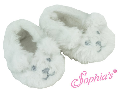 Fuzzy Polar Bear Face Slipper