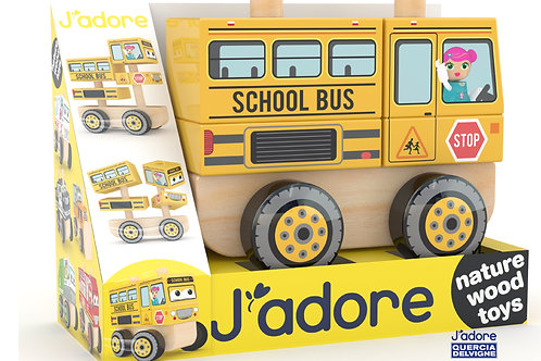School Bus Stacking Car