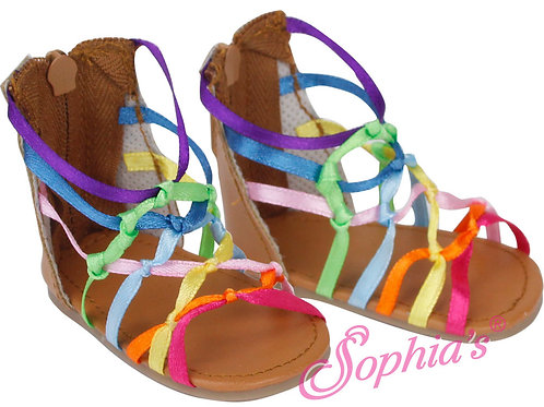 Rainbow Ribbon Knotted Sandal