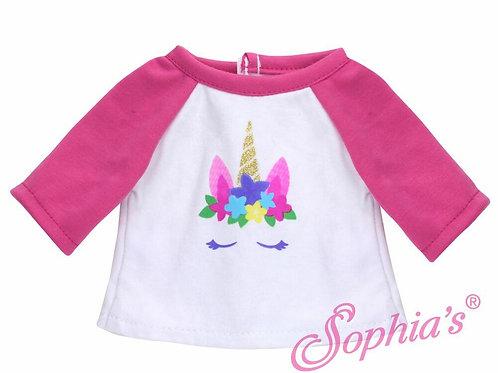 Hot Pink & White Unicorn T-Shirt