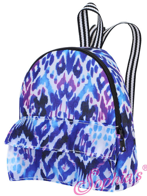 Ikat Print Backpack
