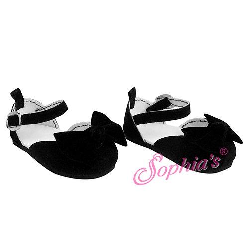 Black Velvet Ankle Strap Dress Shoe