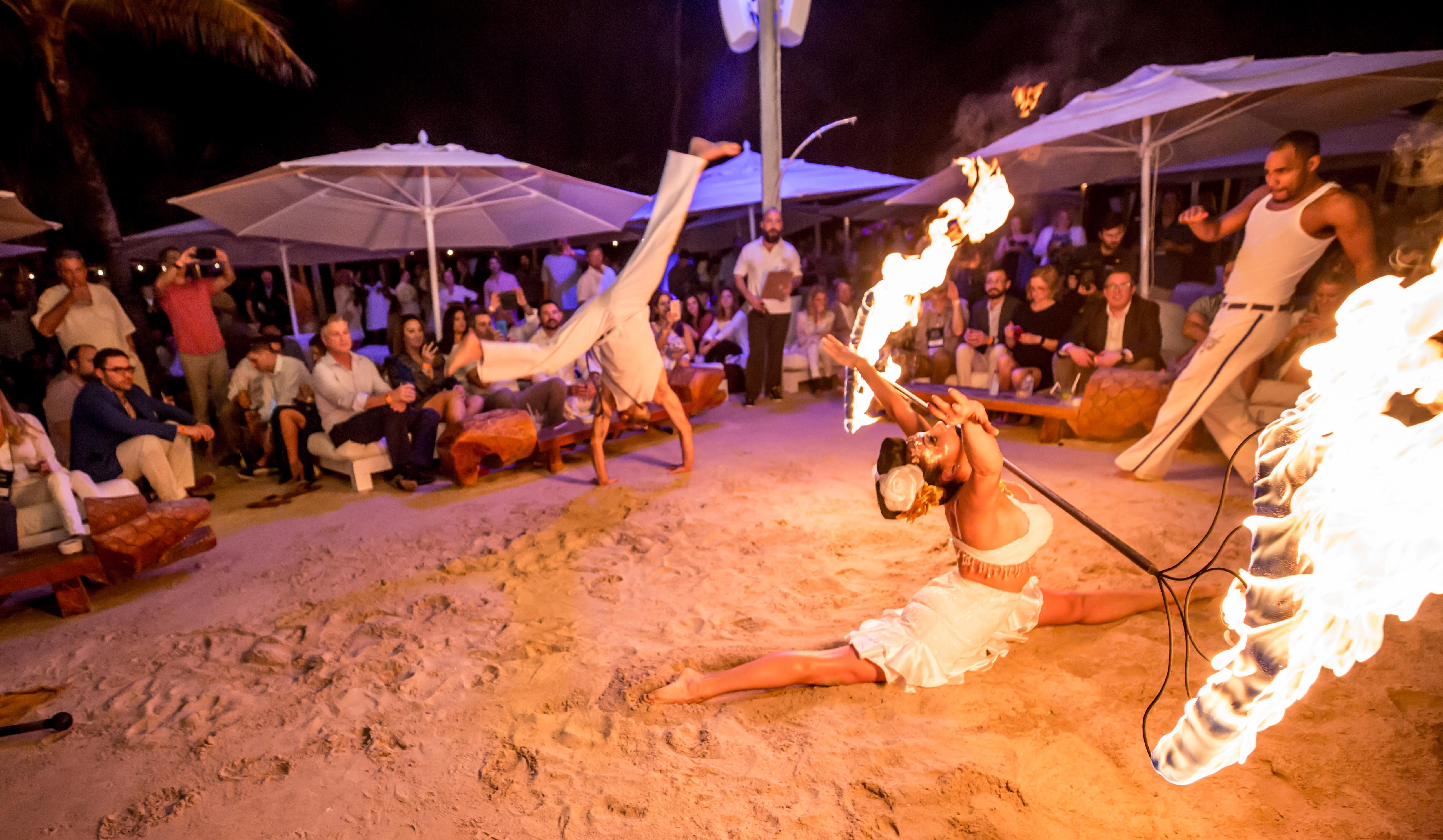 Fire Dancer Capoeira Dancers