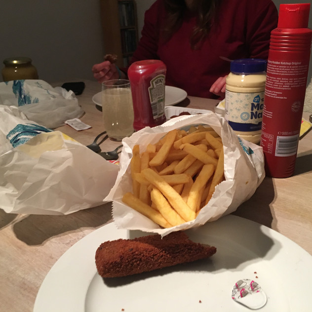 final supper of snack bar fried food