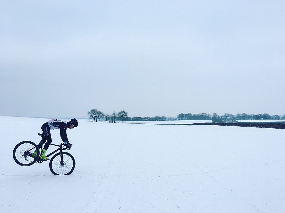 My host and speedy friend Gosse on a snowy day
