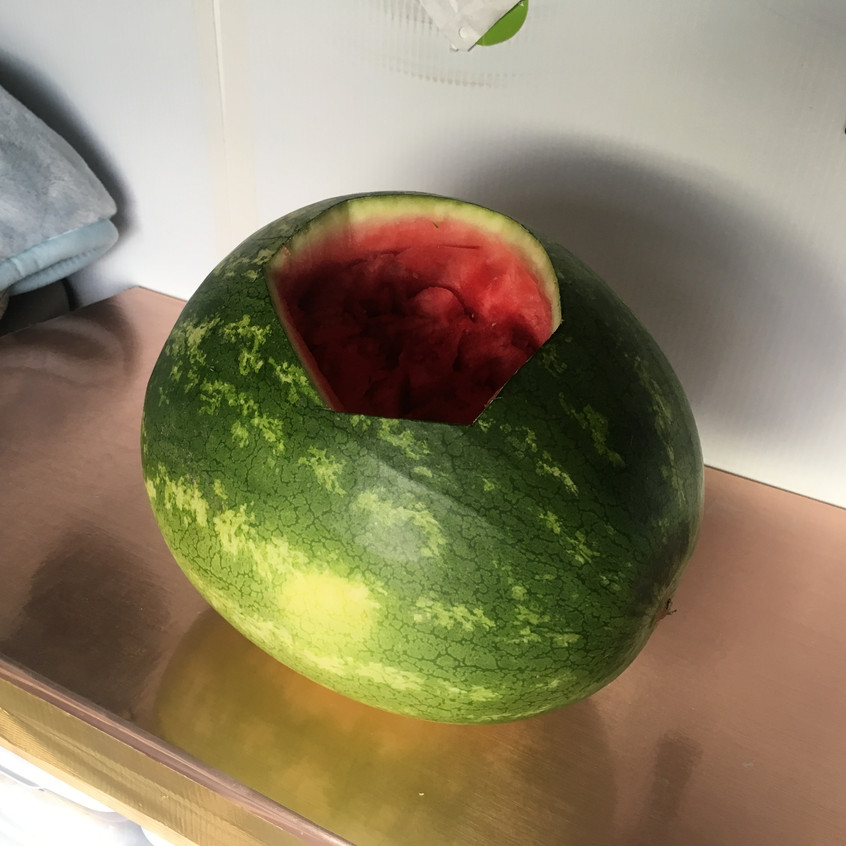 how does #vanlife eat a watermelon?
