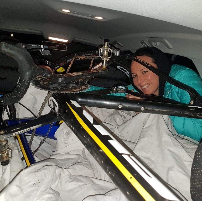 fitting four bikes in an Audi
