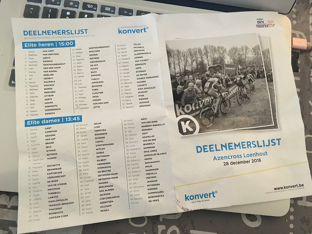 Program listing at Loenhout