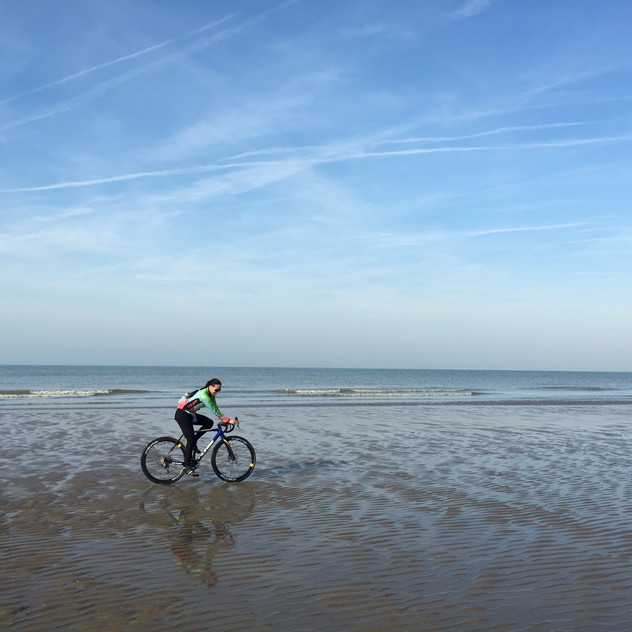 checking out the Belgie coast line