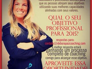 qual seu objetivo profissional para 2015?
