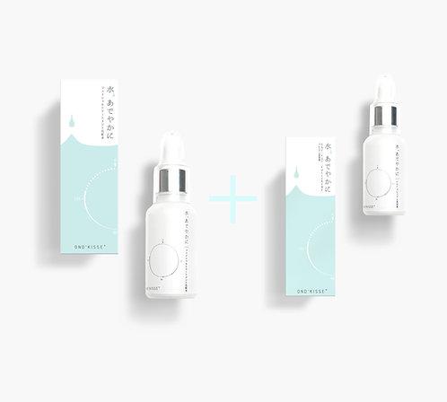 EGF・FULLERENE プレミアム美容液 (30ML)  + フェイシャルトリートメント化粧水(50ML)  2ステップセット