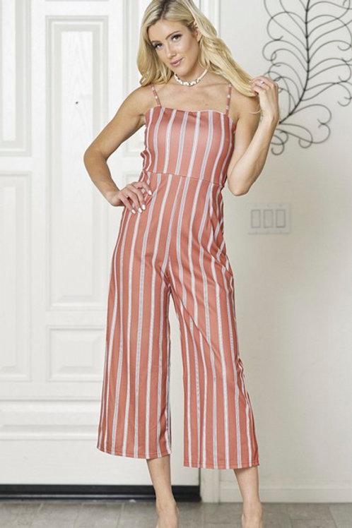 Showa: Orange Striped Jumpsuit