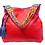 Thumbnail: Cristina Orozco Red Leather Shoulder Handbag