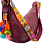Thumbnail: Cristina Orozco Burgundy Leather Luna Handbag