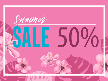 SUMMER CLEARANCE! 50% OFF ON ALL TOPS & DRESSES!