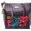 Thumbnail: AngeLozano Matilde Black Leather Handbag