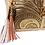 Thumbnail: AngeLozano Chiapas Gold Metallic Leather Backpack