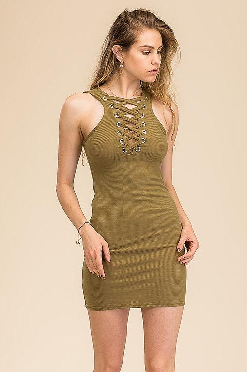 Capella: Lace-up Bodycon Dress