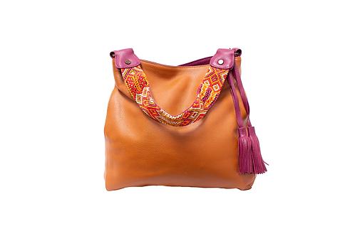 Cristina Orozco Brown Leather Shoulder Handbag