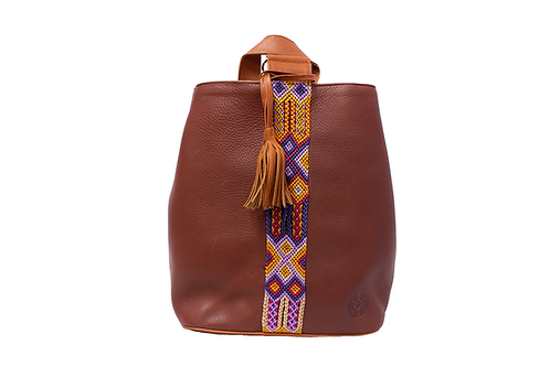 Cristina Orozco Brown Leather Backpack
