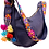 Thumbnail: Cristina Orozco Dark Blue Leather Luna Handbag