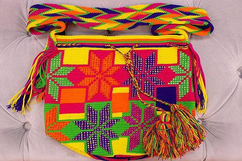 Handmade Orange Patterned Shoulder Bag