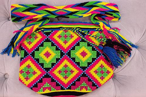 Handmade Green Patterned Shoulder Bag