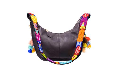 Cristina Orozco Black Leather Luna Handbag
