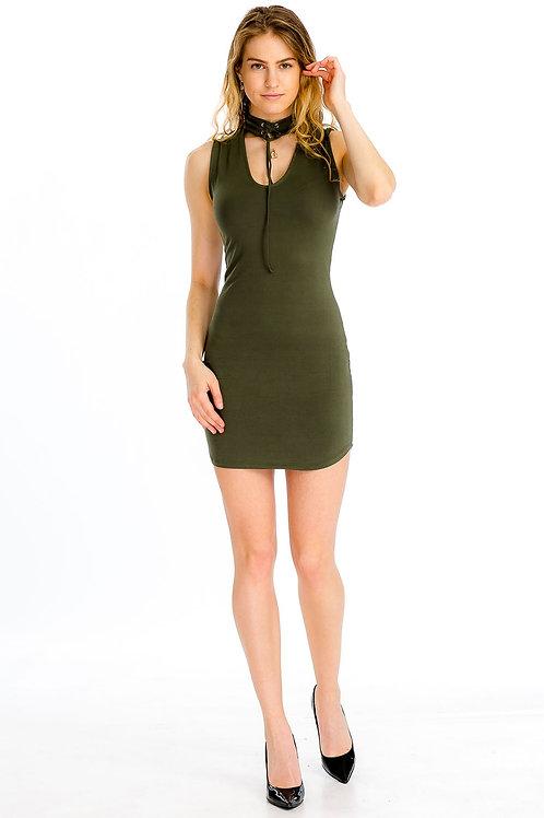 Capella: Lace-up Choker Dress