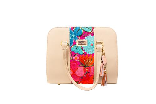 AngeLozano Camila Tan Leather Handbag