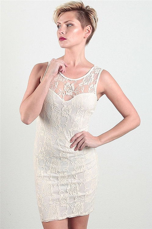 Love Chelsey: Ivory Lace Dress