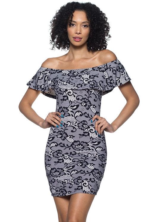 Capella: Off The Shoulder Lace Dress