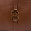 Thumbnail: AngeLozano Chiapas Brown Leather Backpack