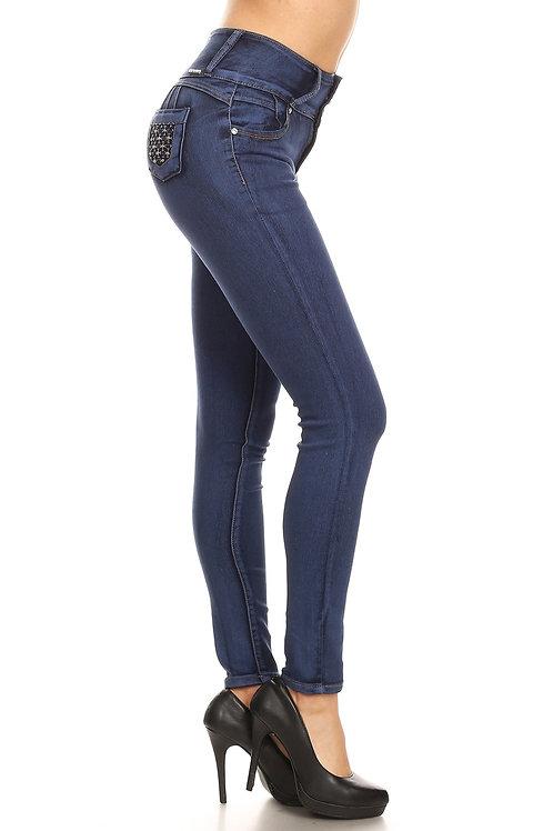 Mi-Jeans: Medium Sand Wash Jeans