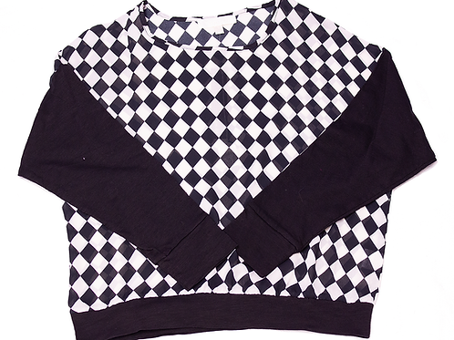 Lumiere: Black & White Patterned Top
